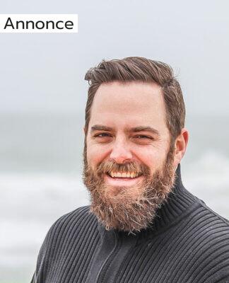 En mand med fuldskæg